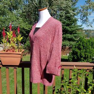 DRESS BARN Tunic Sweater Heathered Pink Sz 1X